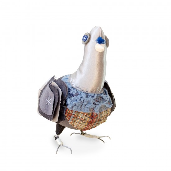 Pigeon Fabric Sculpture by Artist Tracey Cameron