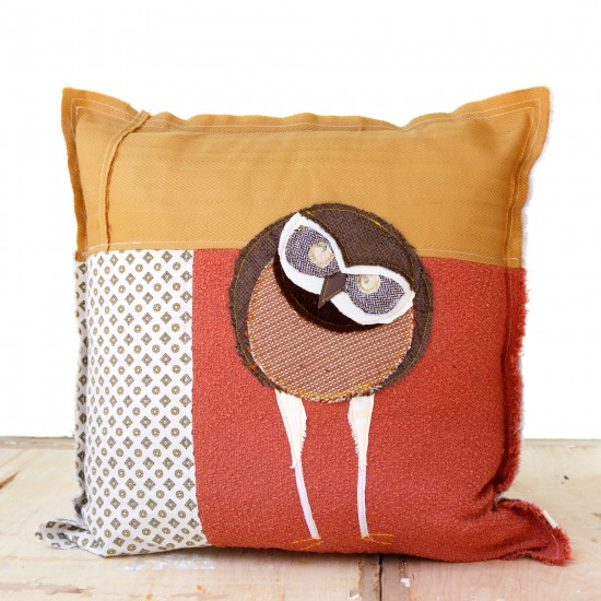 Burrowing Owl - Artist Pillows Canadian Owls Collection