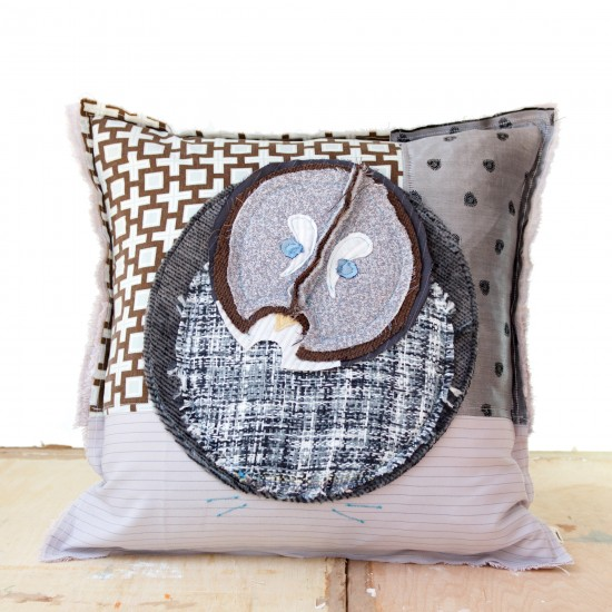 Great Grey Owl - Artist Pillows Canadian Owls Collection