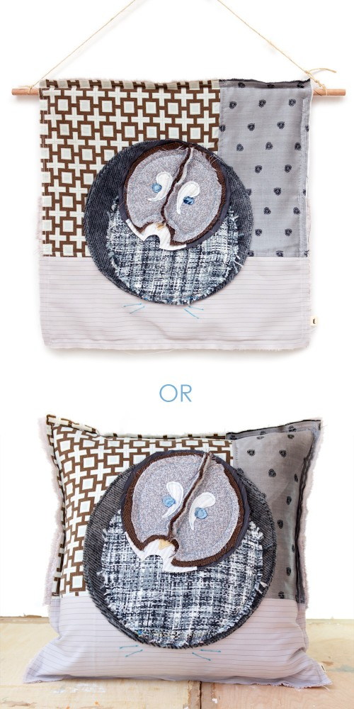 Wall Hanging or Pillow /// Artist Tracey Cameron