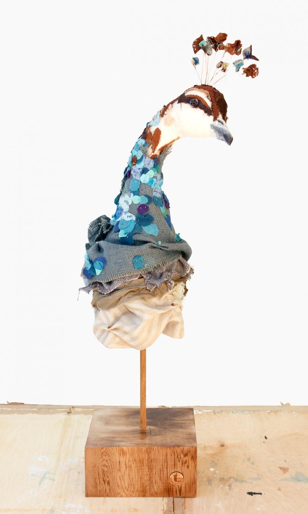 Peahen | Fibre Sculpture | Tracey Cameron Creative