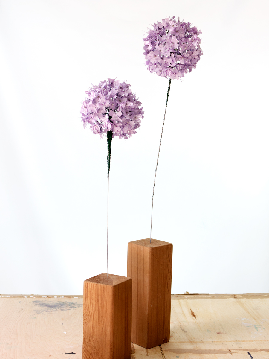 Purple Allium Flower | Fibre Sculpture | Tracey Cameron Creative