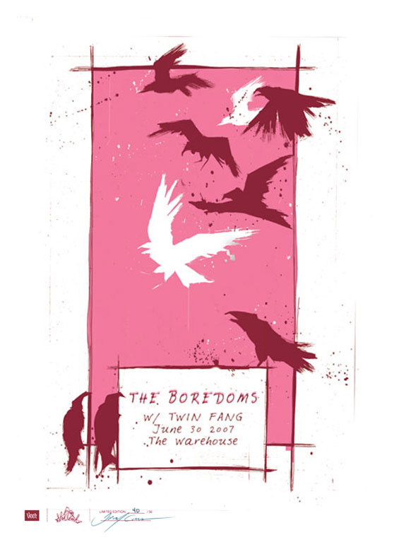 The Boredoms Gig Poster | Tracey Cameron Creative