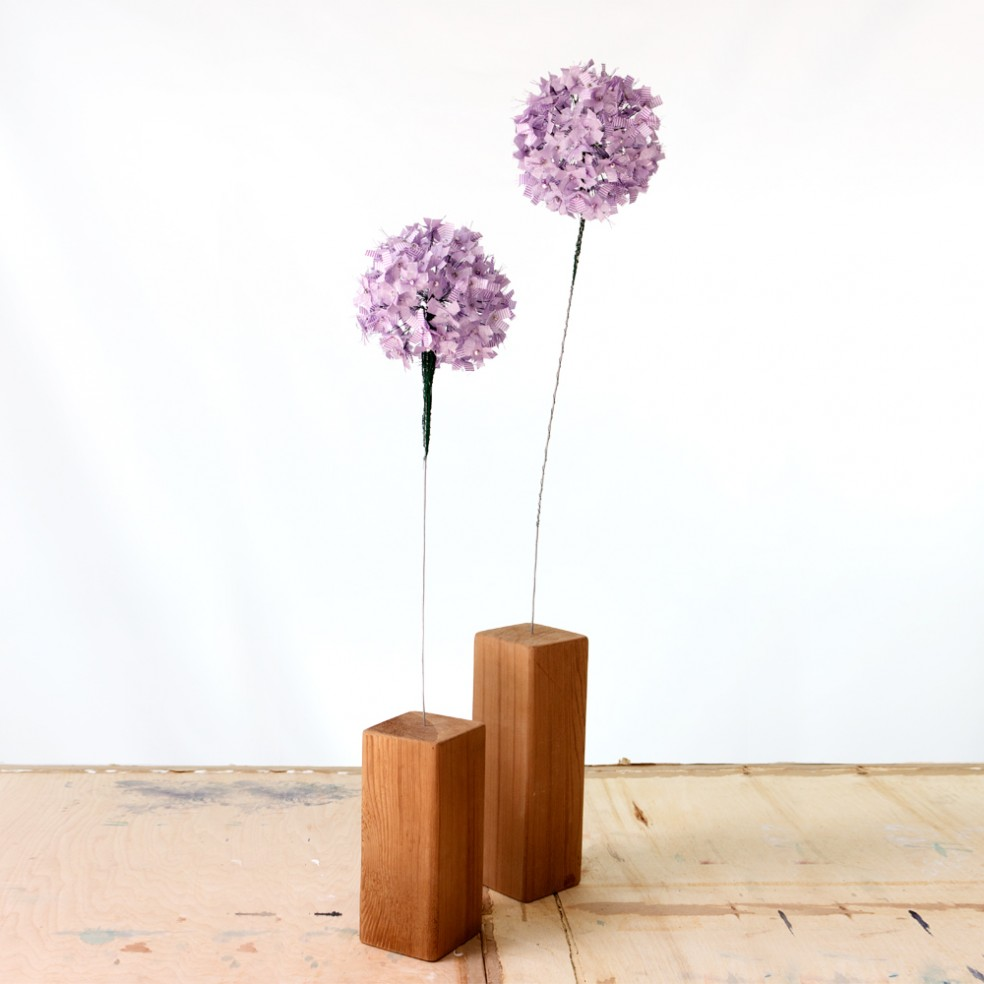 Allium Flower Single Bloom | Fibre Sculpture | Tracey Cameron