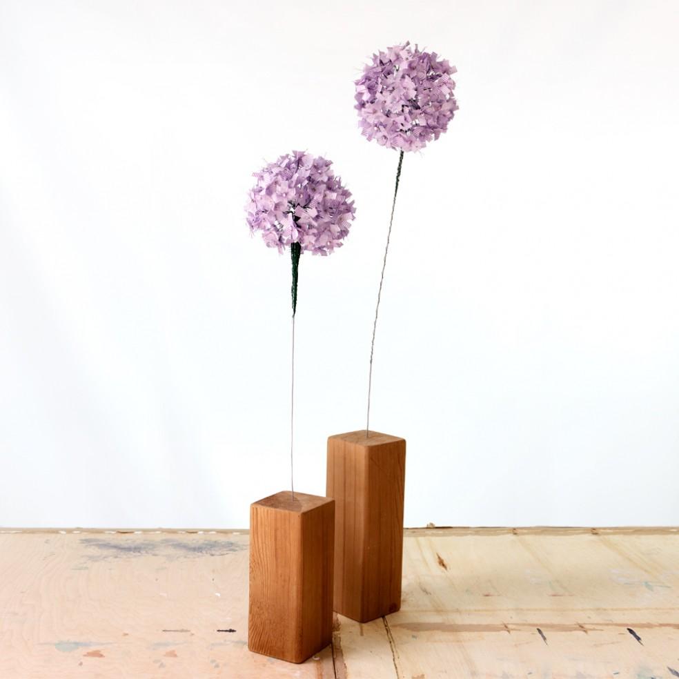 Allium Flower Single Bloom | Fibre Sculpture | Tracey Cameron