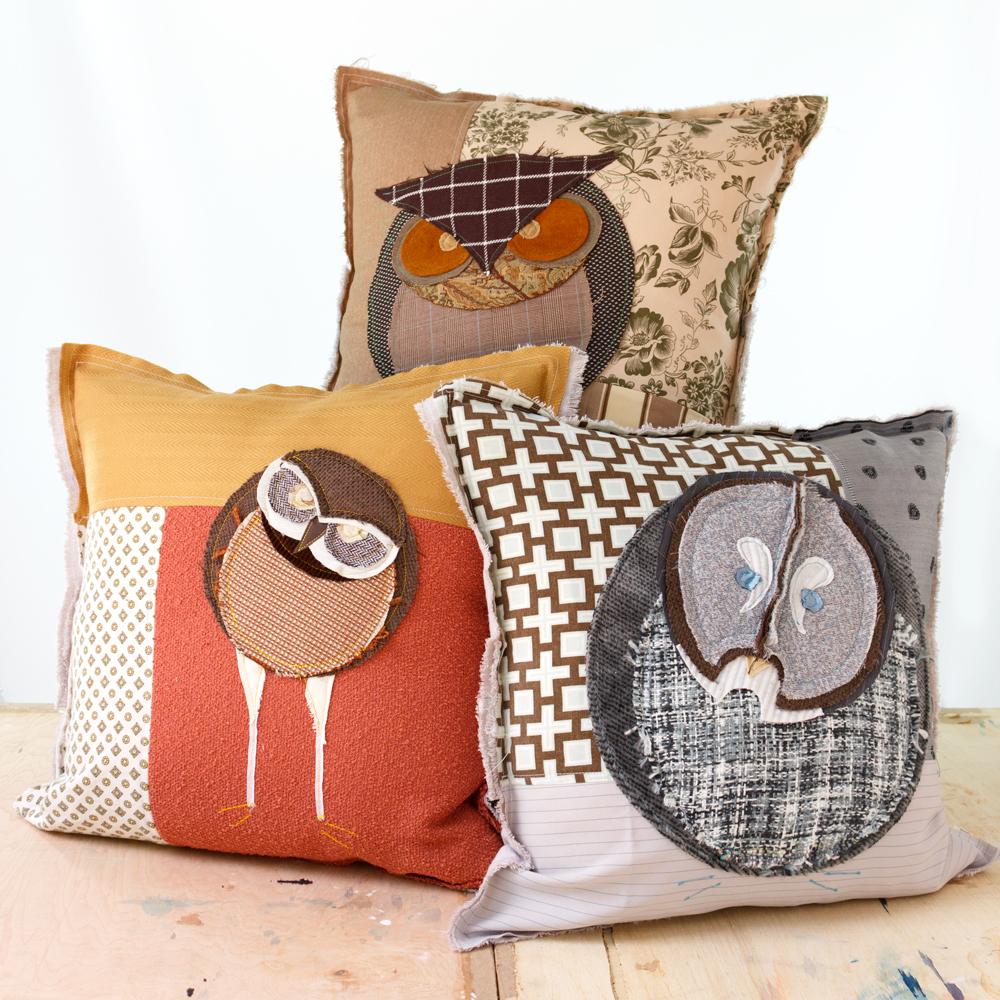 Great Horned Owl Designer Art Pillow Case Tracey Cameron