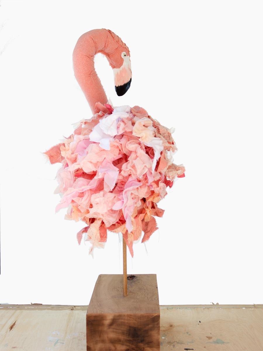 Flamingo Fibre Sculpture Tracey Cameron Creative
