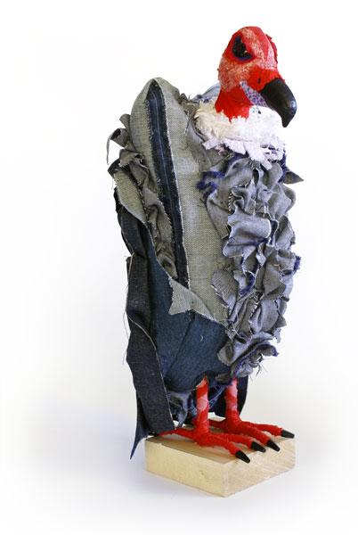 Vulture | Fibre Sculpture | Tracey Cameron Creative