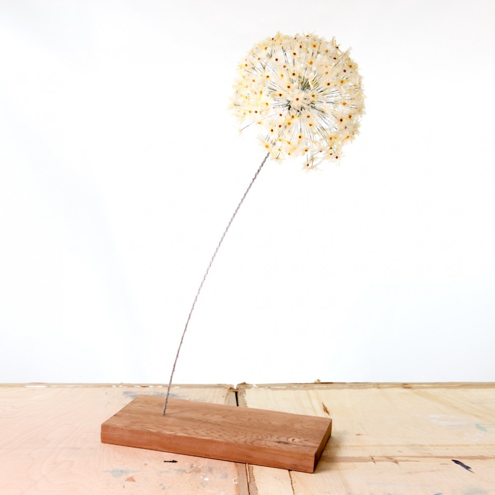Light Yellow Allium Bloom | Fibre Sculpture | Tracey Cameron Creative