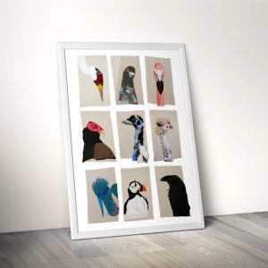 Bird Portraiture Print Framed | Tracey Cameron Creative