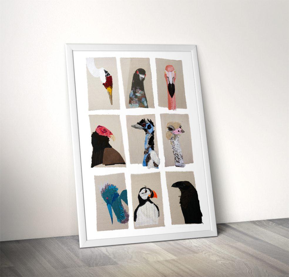 Bird Portraiture Print Framed | Tracey Cameron Creative