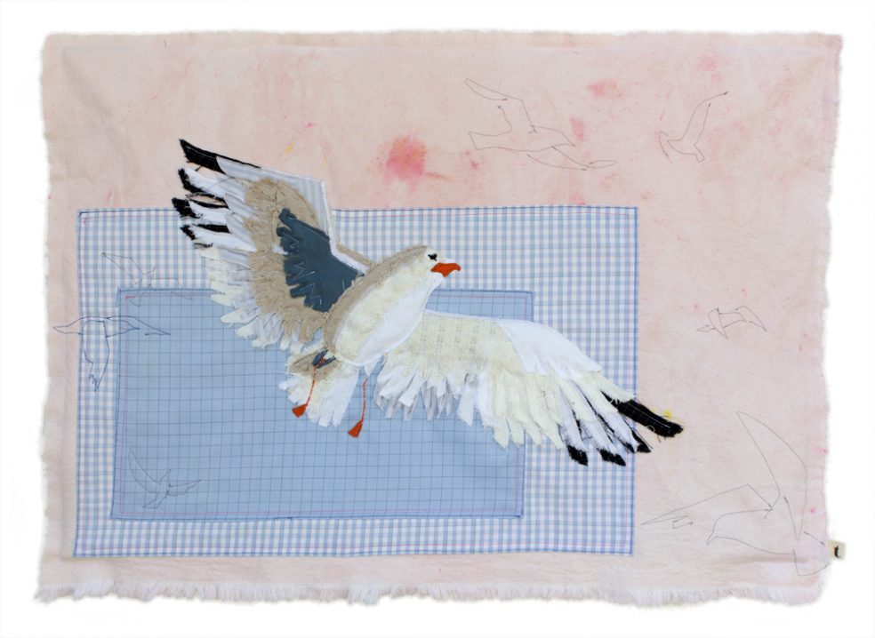 Seagull | Textile Art | Tracey Cameron Creative