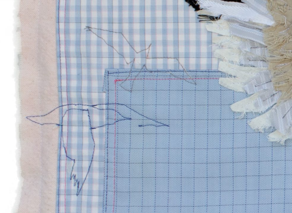 Seagull Detail 1 | Textile Art | Tracey Cameron Creative