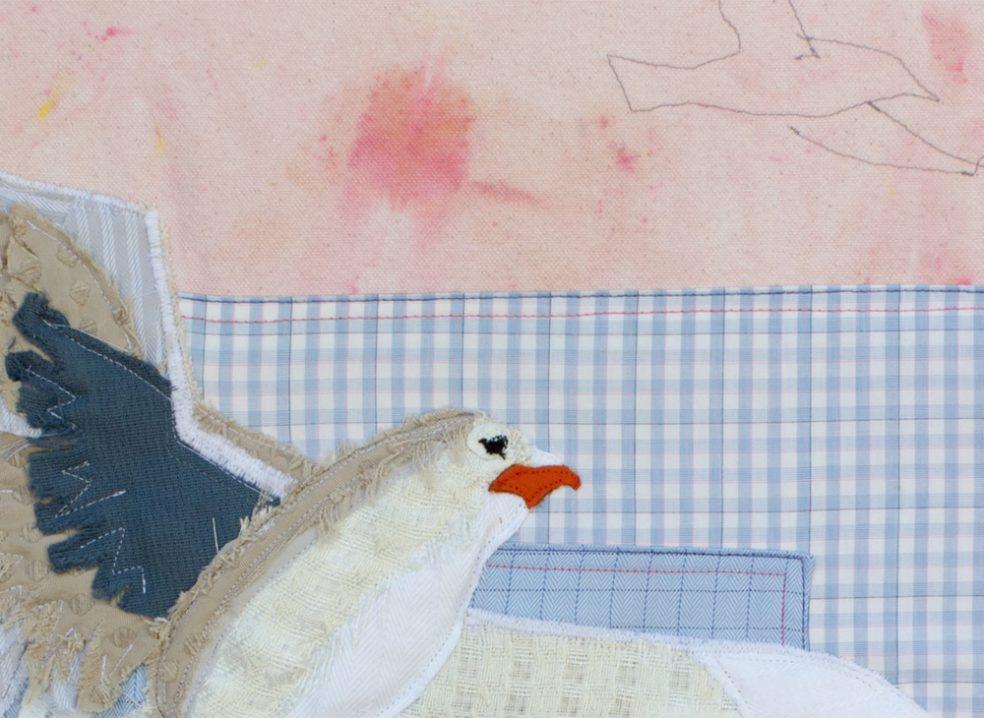 Seagull Detail 2 | Textile Art | Tracey Cameron Creative