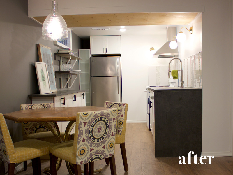 Basement Kitchen After || Tracey Cameron Creative