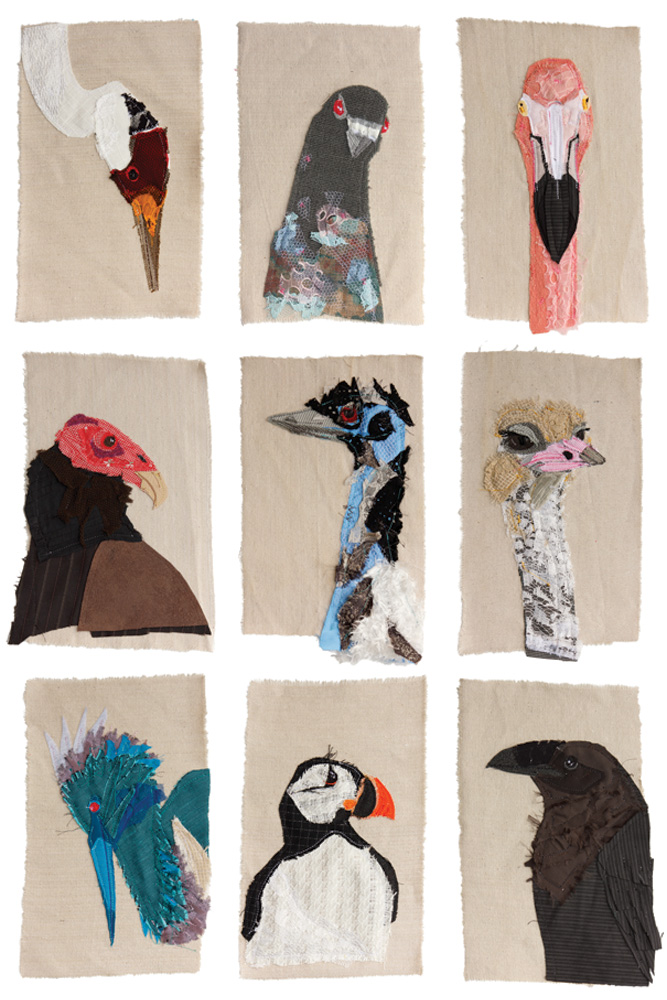 Bird Portraiture Study | Textile Art | Tracey Cameron Creative
