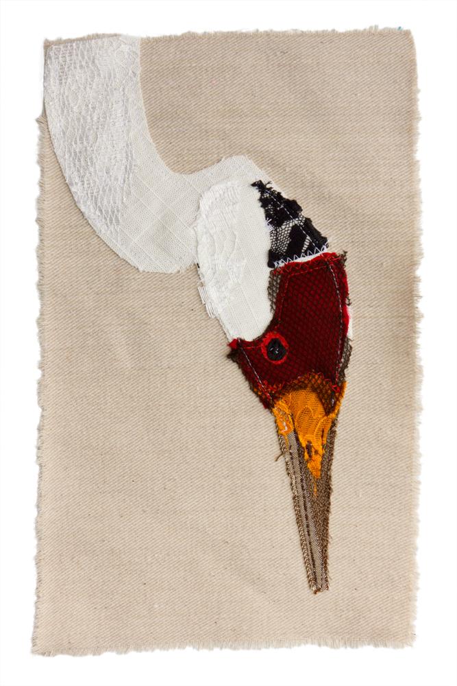 Crane | Textile Art | Tracey Cameron Creative