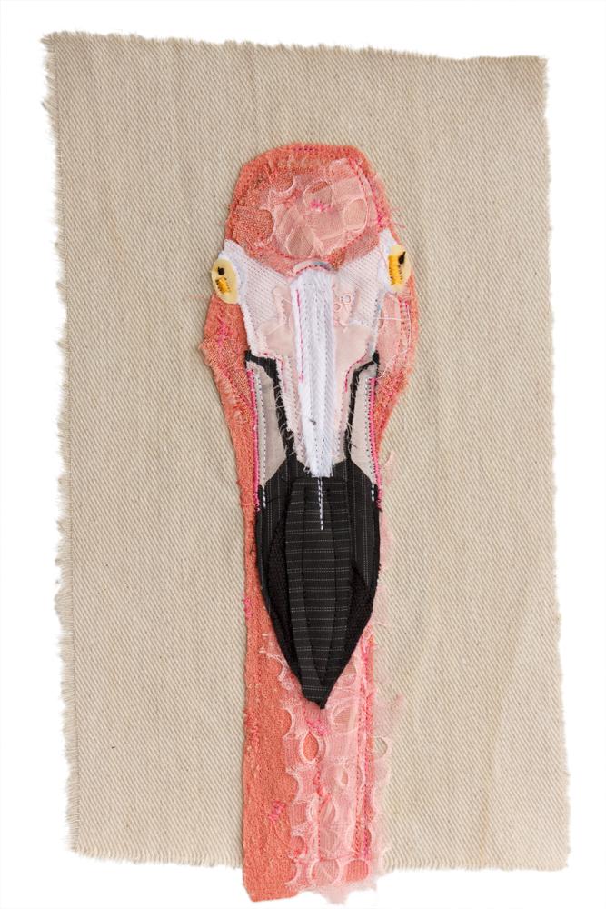 Flamingo | Textile Art | Tracey Cameron Creative
