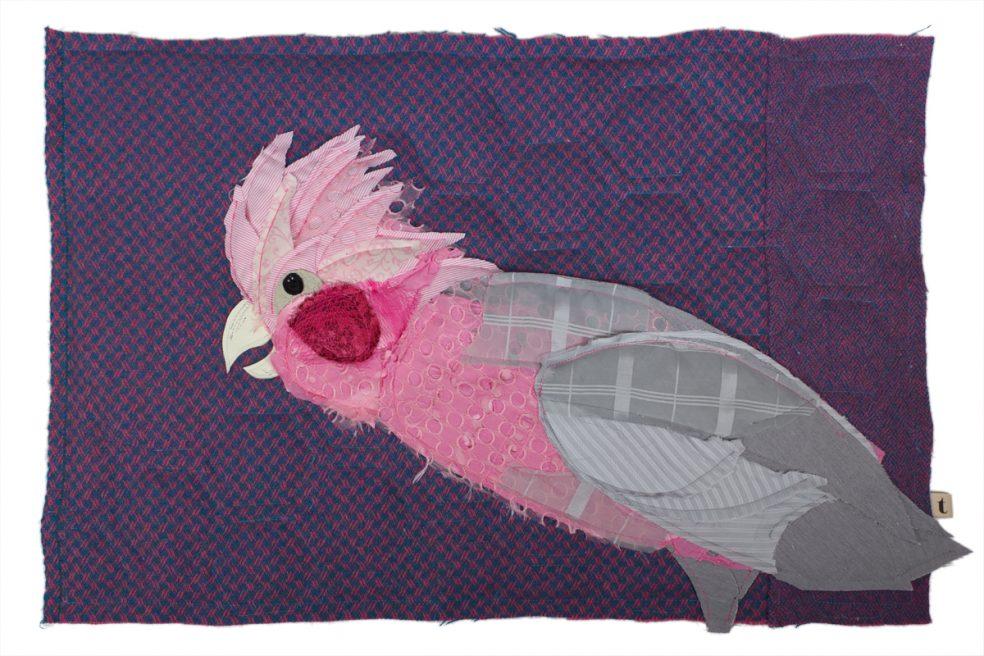 Galah Cockatoo | Textile Wall Hanging | Tracey Cameron Creative