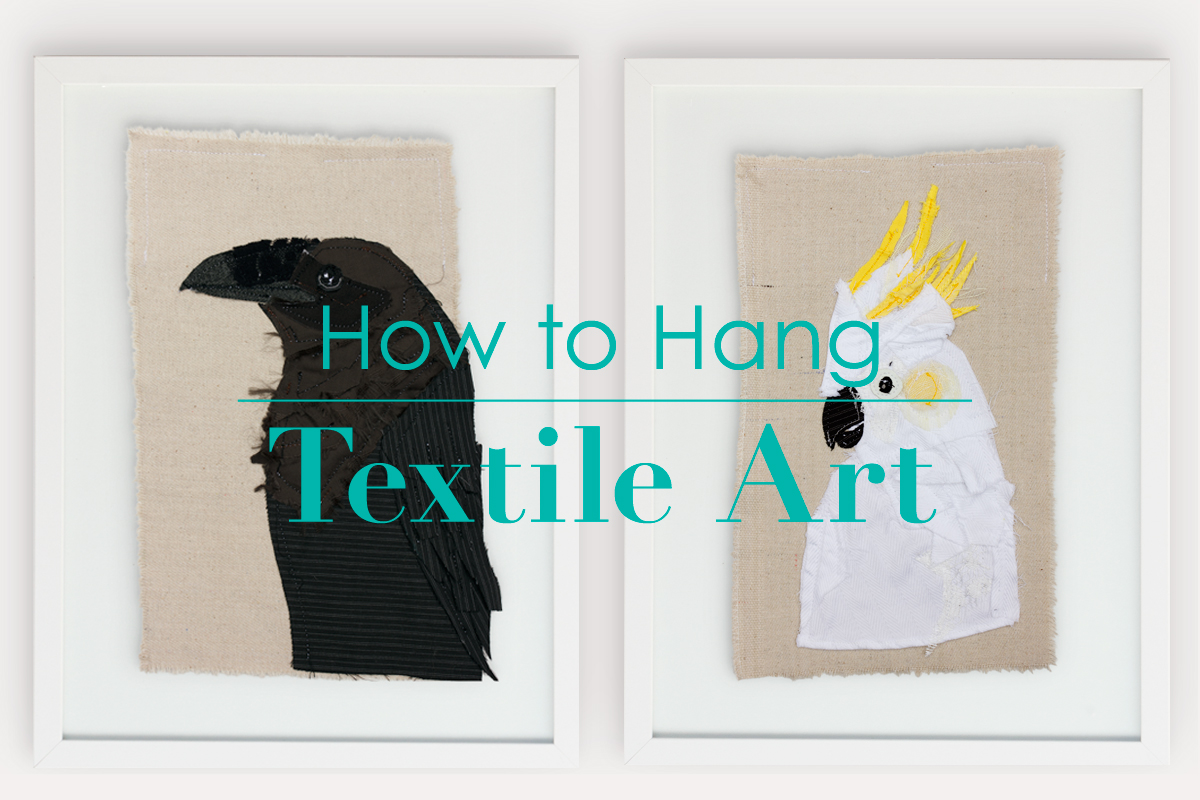 How to Hang Textile Art | Tracey Cameron Creative