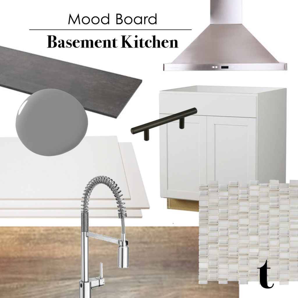 Mood Board | Basement Kitchen || Tracey Cameron Creative
