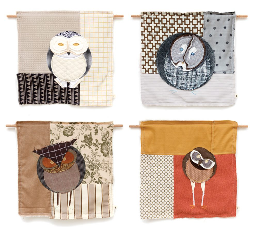Owls of Canada | Textile Wall Hanging | Tracey Cameron Creative
