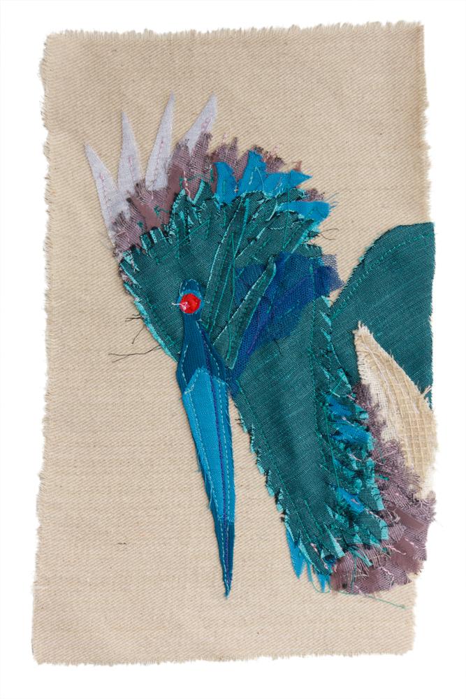 Tri Heron | Textile Art | Tracey Cameron Creative