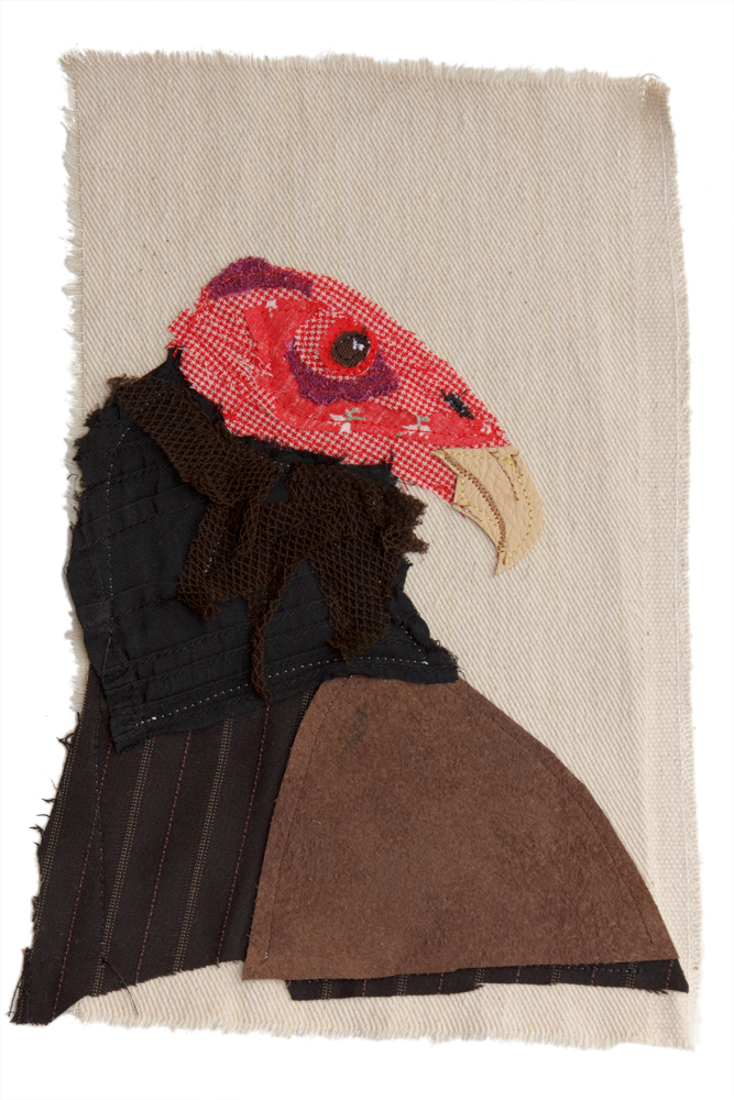 Turkey Vulture | Textile Art | Tracey Cameron Creative